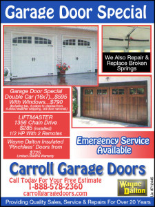 Carroll Garage Doors Ad