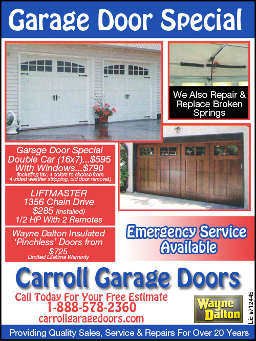 Garage door repair chatsworth ca carroll garage doors for Garage ad breuillet
