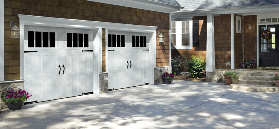 Carriage style garage doors carroll garage doors for Home hardware garages