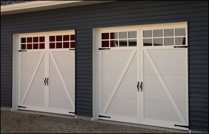Carriage style garage doors carroll garage doors for Carriage door plans