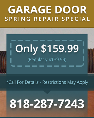 Garage Door Spring Repair Special