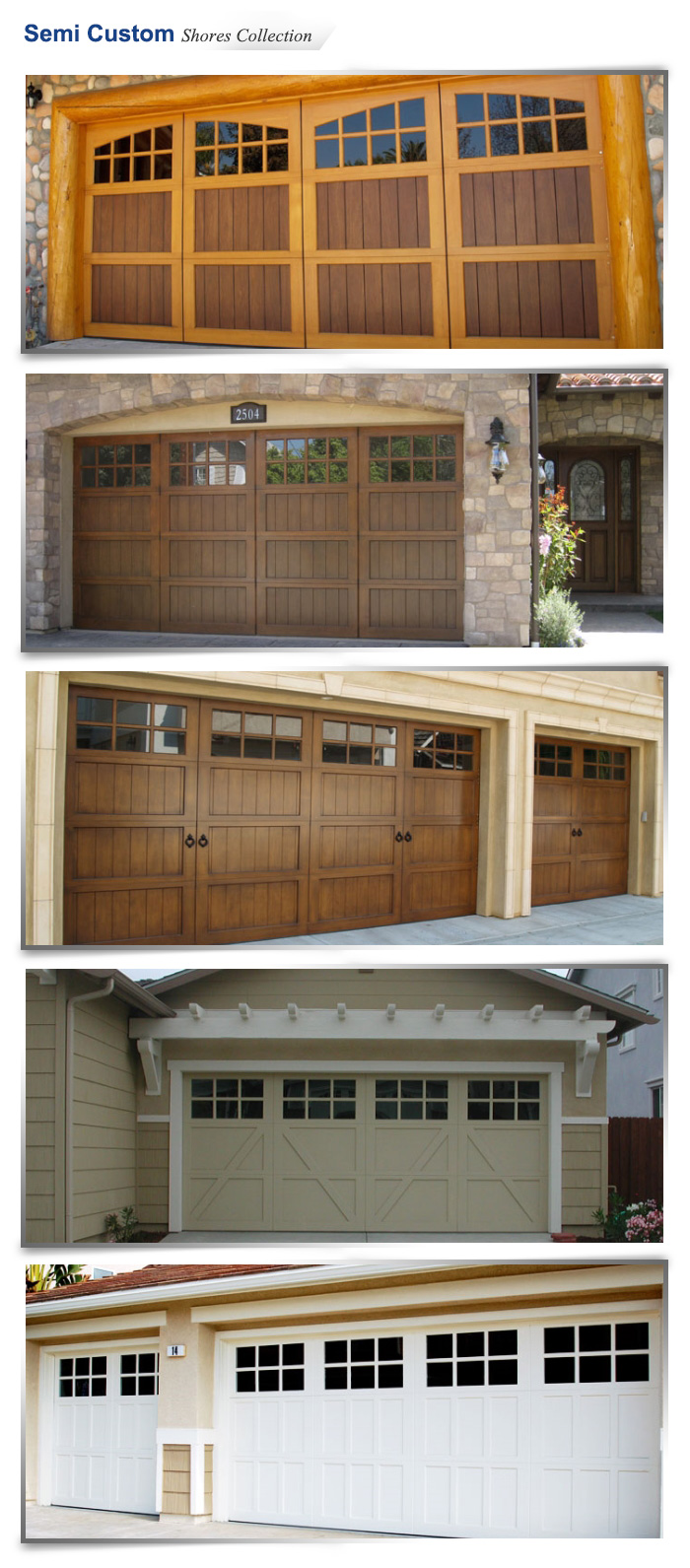 Ranch house doors carroll garage doors for Ranch house with garage